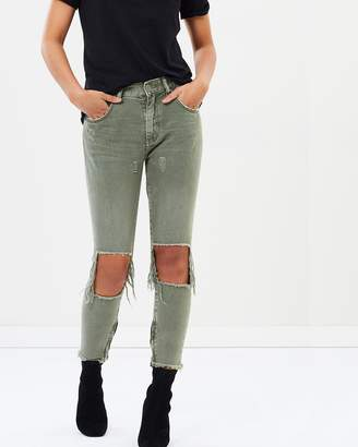 One Teaspoon High Waist Freebirds Skinny Jeans