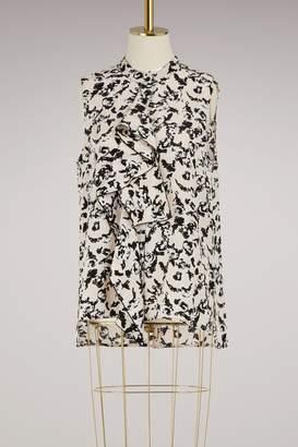 Proenza Schouler Silk ruffle top