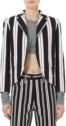 Marc Jacobs 3/4-Sleeve Wide-Striped Boyfriend Blazer