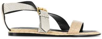 Stella McCartney python-embossed crossover sandals