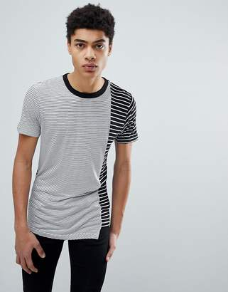 D-Struct Cut And Sew Asymetrical T-Shirt