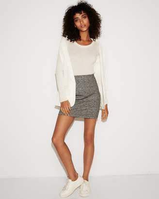 Express High Waisted Marled Mini Skirt