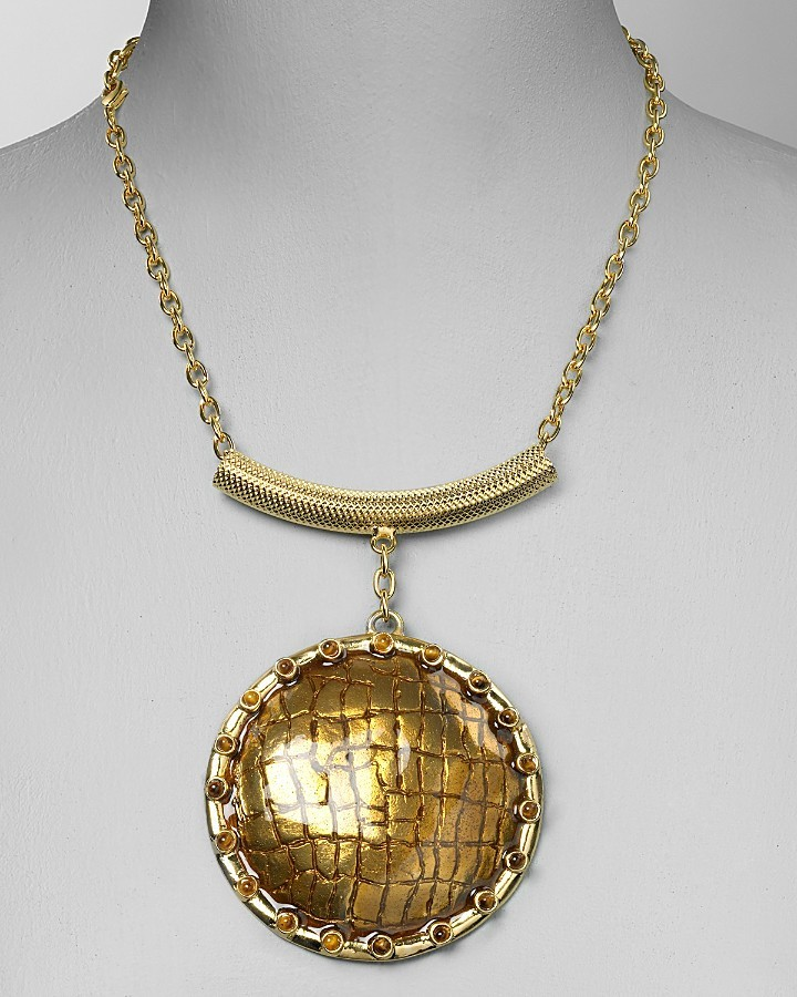 Kara By Kara Ross Circular Enamel Pendant Necklace, 18