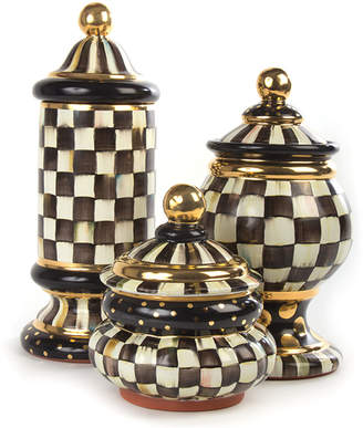 Mackenzie Childs Courtly Check Groovy Canister