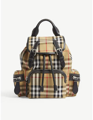 Burberry Brown Check Vintage Small Cross Body Rucksack