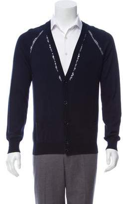 Christian Dior Knit V-Neck Cardigan