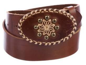 Max Mara Weekend Leather Buckle Belt
