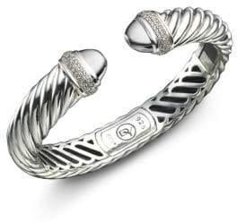 David Yurman Diamond Pave& Sterling Silver Waverly Bracelet