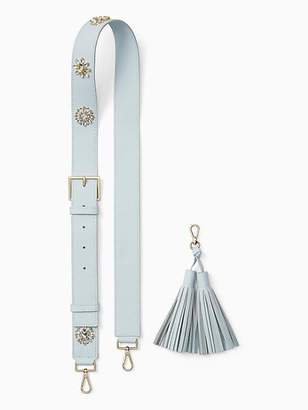 Kate Spade Make it mine crystal flowers strap / tassel pack