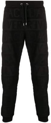 Versace textural logo track pants