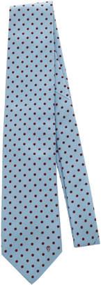 Alexander McQueen Polka Dot Silk-Jacquard Tie