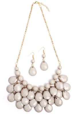 Riah Fashion Bubble Bib Necklace Set