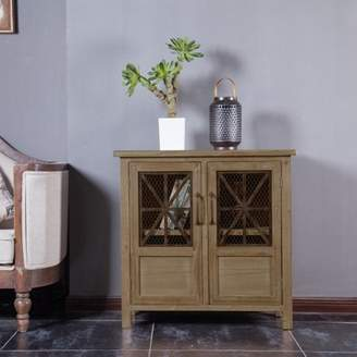 Winsome House Double Door Wood and Metal Cabinet