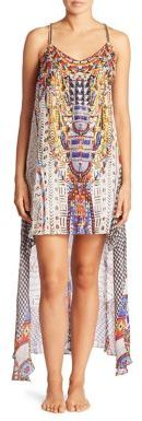 Camilla Echoes of Engai Embellished Silk Split Front Dress $620 thestylecure.com