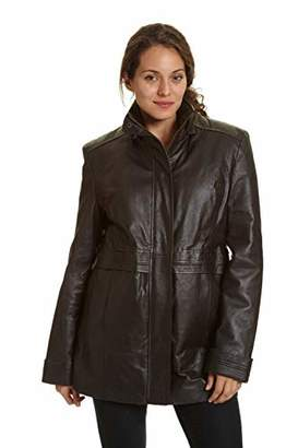Excelled Women's Leather Multi Pocket Anorak