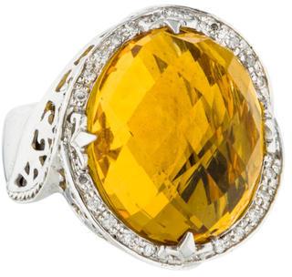CharriolCharriol Citrine & Diamond Cocktail Ring