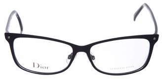 Christian Dior Logo Square Eyeglasses