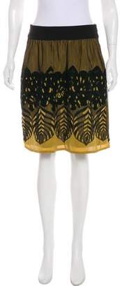 Philosophy di Alberta Ferretti Embroidered Silk Skirt