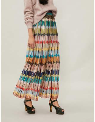 Missoni Striped metallic-knit maxi skirt