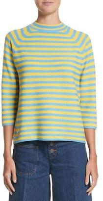 Marc Jacobs Stripe Mock Neck Sweater