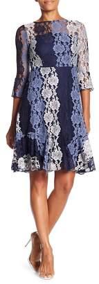 Eva Franco Fiona Stripe Lace Dress