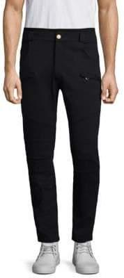 Pierre Balmain Brass Buttoned Cotton Pants