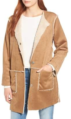 BB Dakota Had Me at Hello Reversible Faux Shearling Jacket