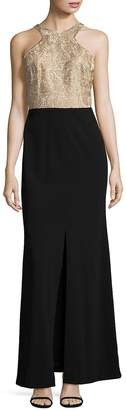 Calvin Klein Women's Lace Column Gown
