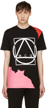 McQ Alexander McQueen Black Abstract Icon T-Shirt $130 thestylecure.com