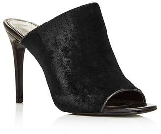 Rachel Zoe Women's Marlene Velvet High-Heel Slide Sandals