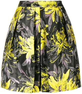 Steffen Schraut high waisted floral skirt