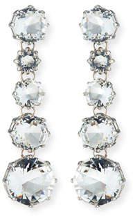 Sequin Clear Crystal Drop Earrings