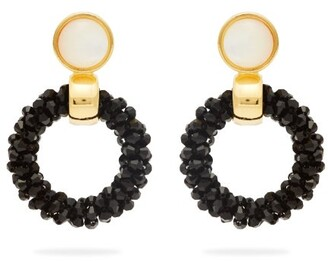 Lizzie Fortunato Brancusi Hoop Earrings - Womens - Black