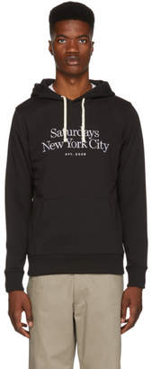 Saturdays NYC Black Ditch Miller Standard Embroidered Hoodie