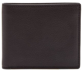 Maison Margiela Leather Bi Fold Wallet - Mens - Black White