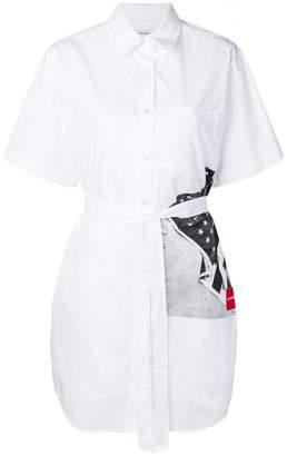 Calvin Klein Jeans flag print shirt dress