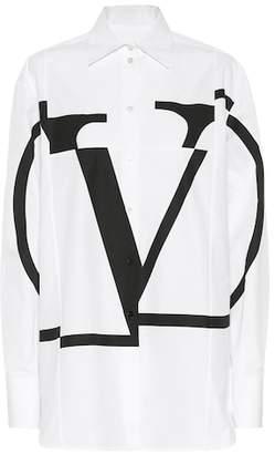 Valentino Printed cotton poplin shirt