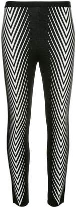 Haider Ackermann chevron-print leggings