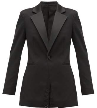 b295d525916 Joseph Stearn Satin Lapel Tuxedo Jacket - Womens - Black