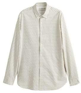 MANGO MAN Slim-fit gingham check shirt