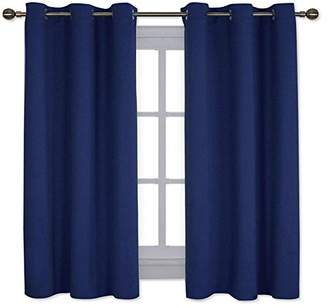 NICETOWN All Season Thermal Insulated Solid Grommet Top Blackout Curtains/Drapes/Panels for Kid's Room (Royal Navy Blue