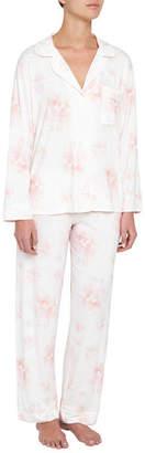 Eberjey Aquarela Floral-Print Classic Pajama Set