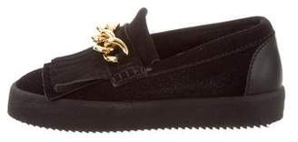 Giuseppe Zanotti Suede Chain-Link Loafers