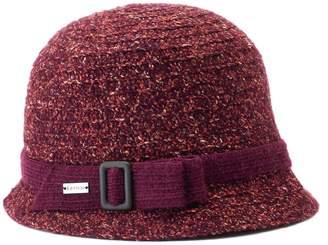 Betmar Women's Maya Buckle Knit Cloche Hat