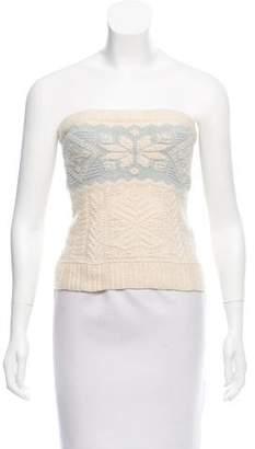 Ralph Lauren Black Label Embellished Cashmere Top