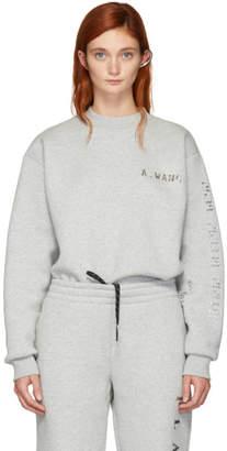 Alexander Wang Grey Platinum Pullover Sweatshirt