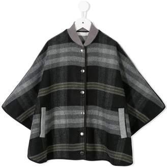 Stella McCartney single breasted check coat