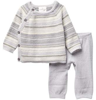 Cuddl Duds Striped Top & Cuddle Pants Set (Baby Boys)