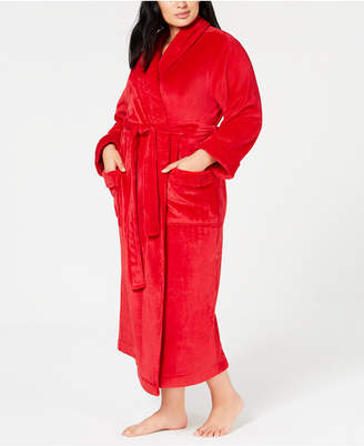 Charter Club Plus Size Long Wrap Robe, Created for Macy's