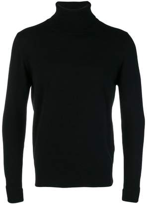 Ballantyne ribbed roll neck sweater